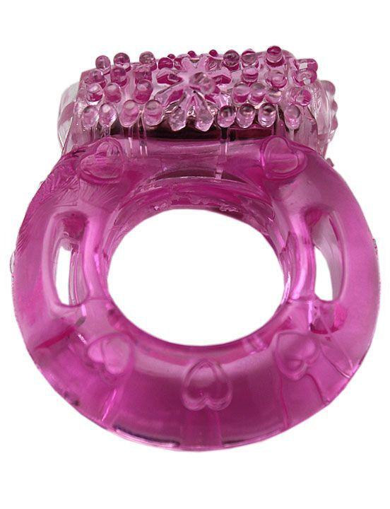 Эрекционное кольцо с виброэлементом и пупырышками