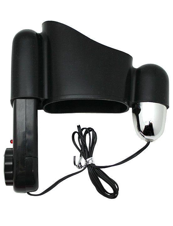 Мини-вибратор на эластичном держателе для мужских помп Eroticon