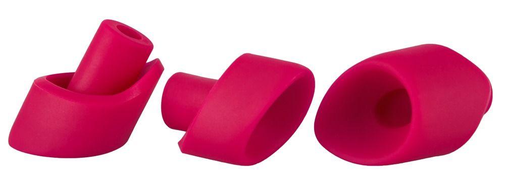 Набор из 3 насадок увеличенного размера для вакуумного стимулятора Womanizer 2GO