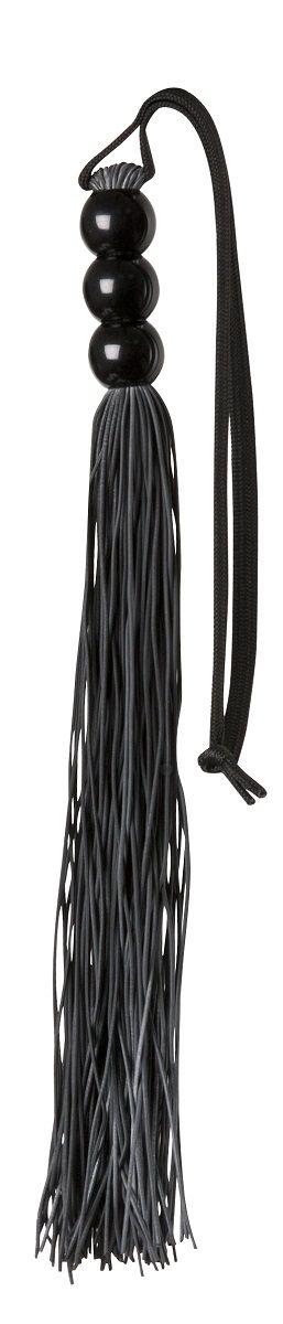 Чёрная резиновая мини-плеть Rubber Whip - 43 см.
