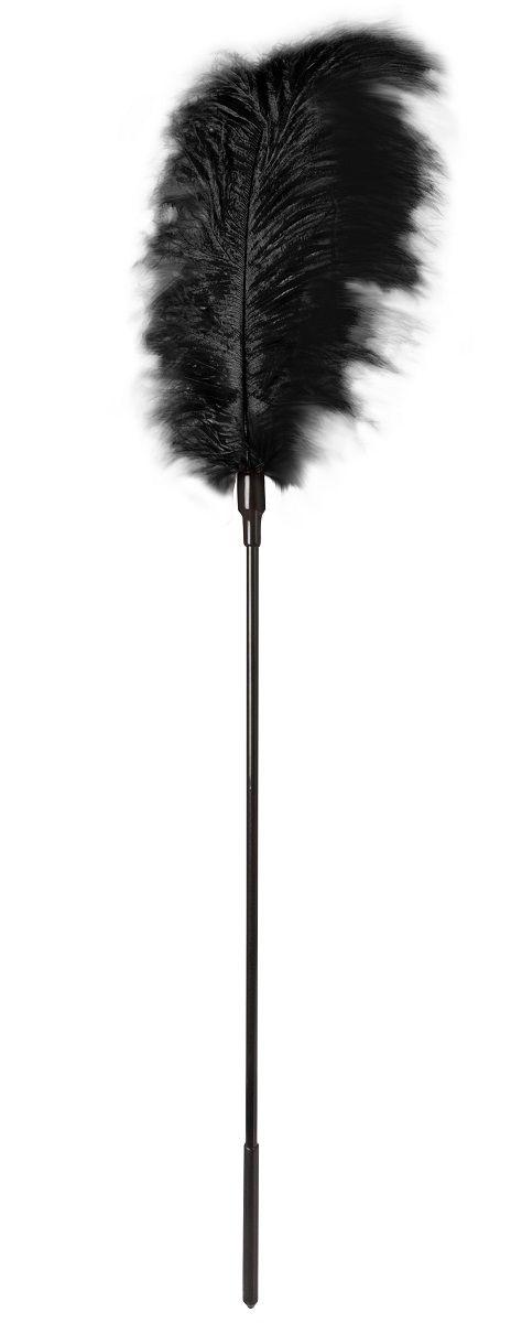 Стек с большим чёрным пером Large Feather Tickler - 65 см.