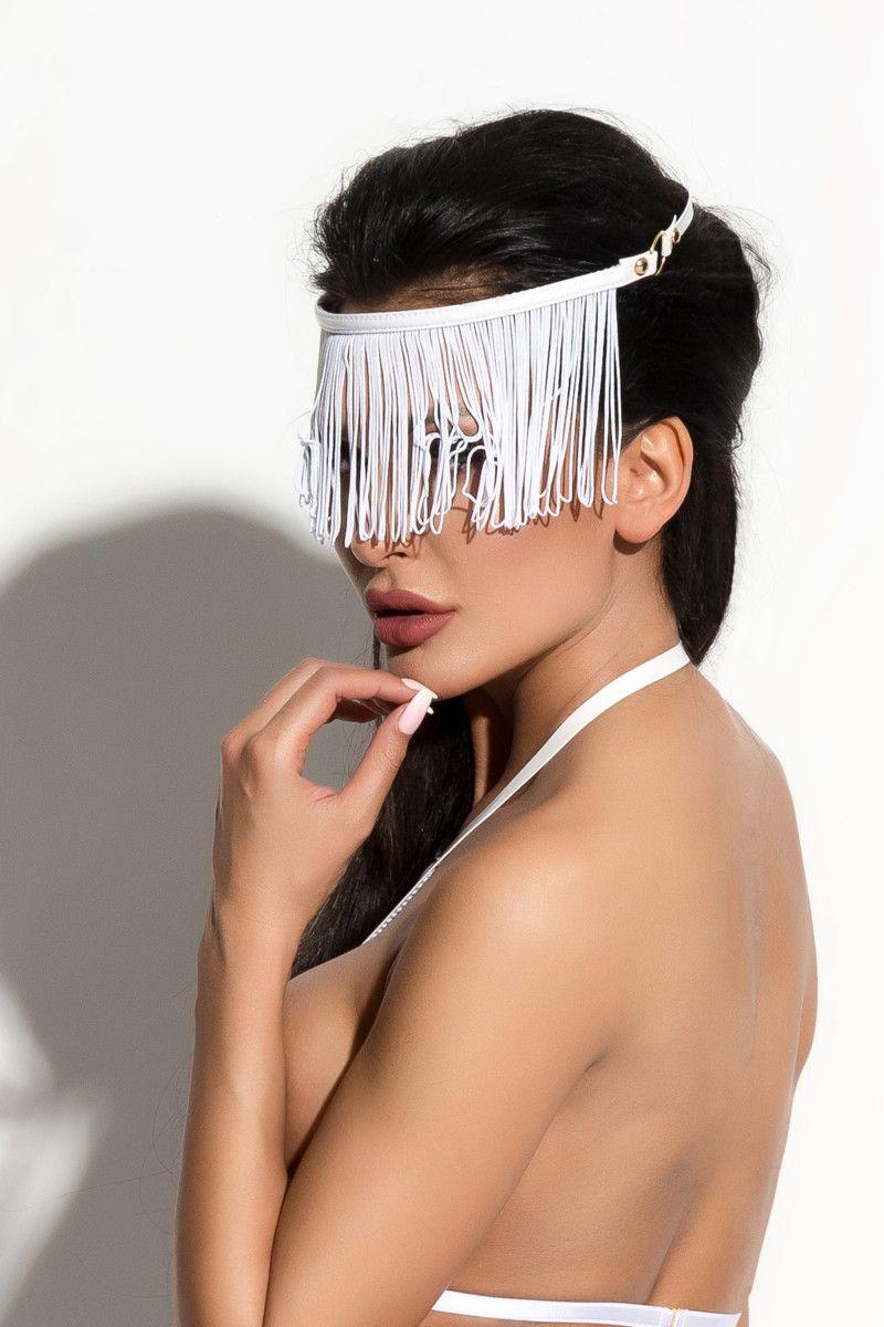 Украшение на голову Queen of hearts с длинной бахромой - фото 233362