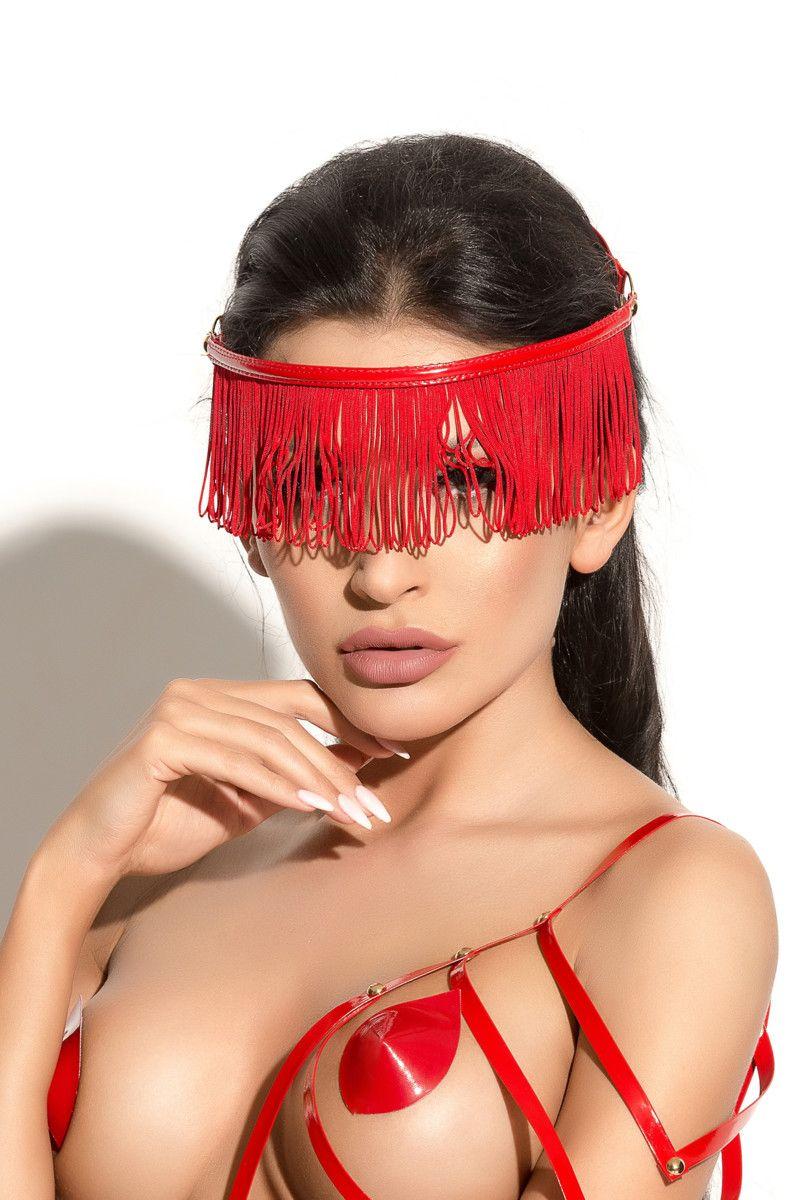 Украшение на голову Queen of hearts с длинной бахромой - фото 233363