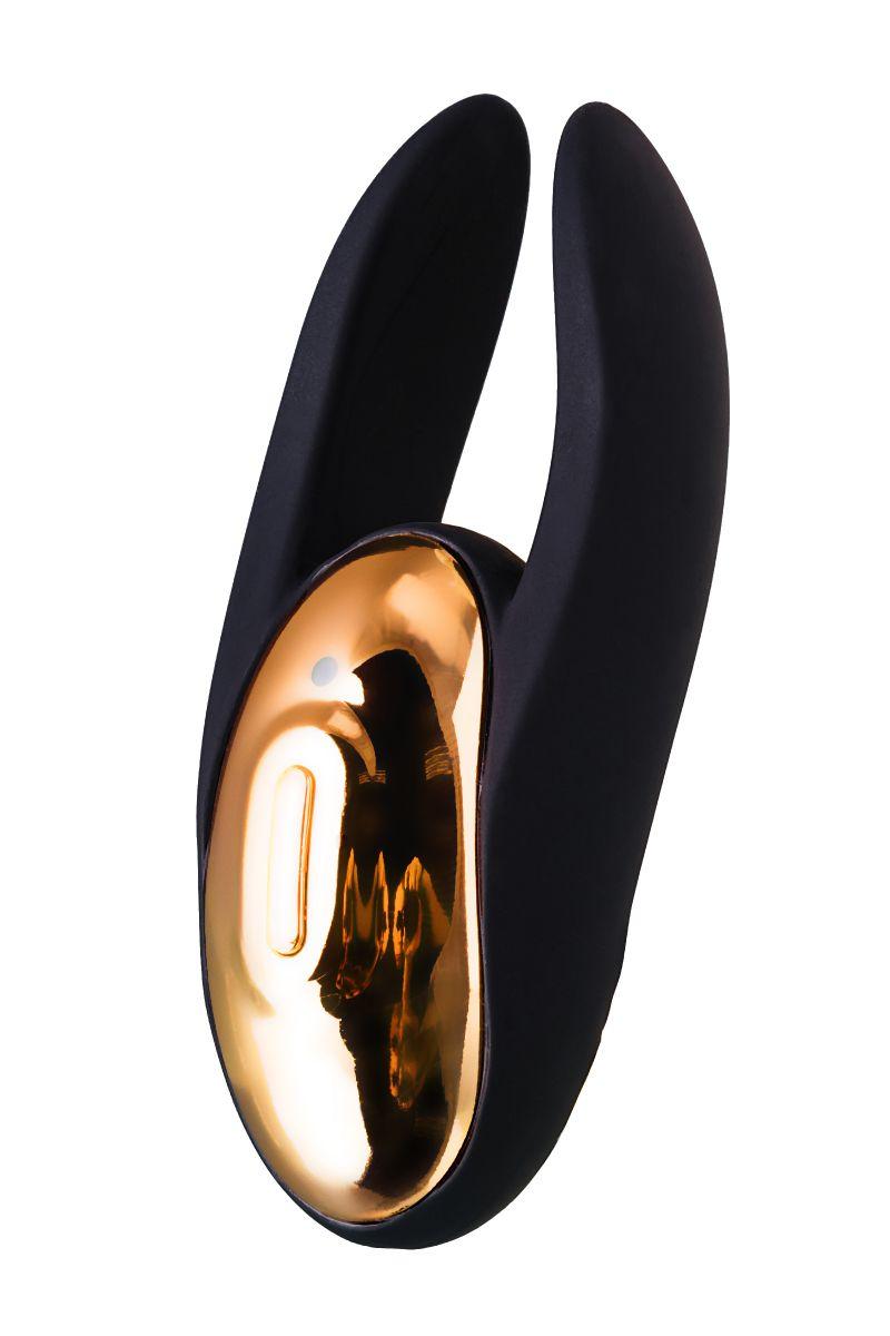 Чёрно-золотой клиторальный вибромассажер WANAME Wave