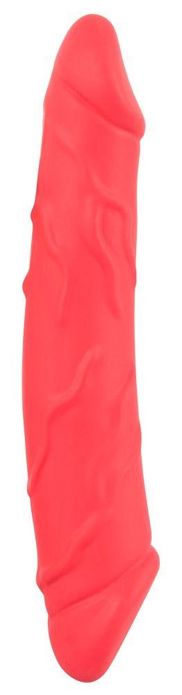 Двусторонний красный фаллоимитатор — 24,1 см.