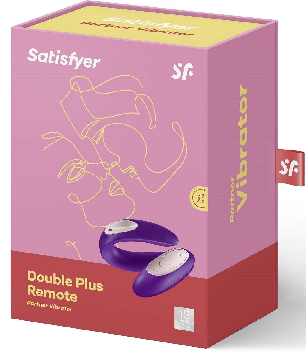 Фиолетовый вибратор для пар Partner Plus Remote с пультом ДУ - фото 168418