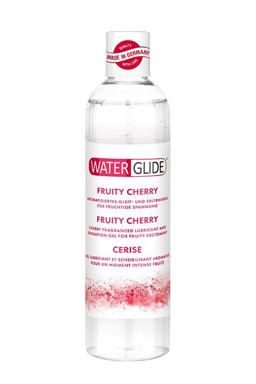 Лубрикант на водной основе с ароматом вишни FRUITY CHERRY - 300 мл.