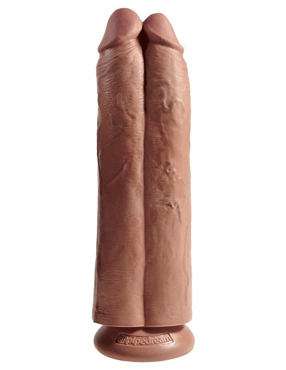 Сдвоенный фаллоимитатор-мулат 11  Two Cocks One Hole - 30,5 см.