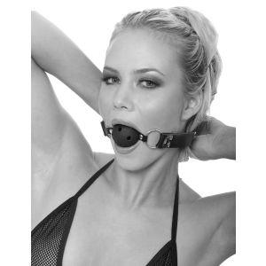 Черный кляп с дырочками Breathable Ball Gag