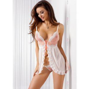 Сексуальная сорочка Misty с маленькой шнуровкой на лифе и оборками
