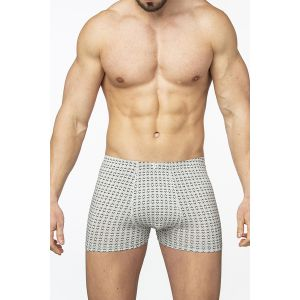 Мужские трусы-боксеры с ромбовидным узором