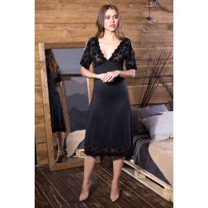 Сорочка Elegance Velvet с V-образным вырезом