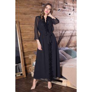 Длинный халат Elegance Velvet с поясом