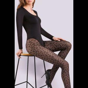 Фантазийные колготки Caty с леопардовым принтом