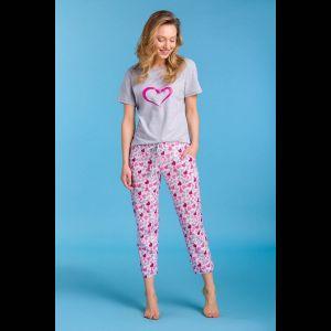 Женская пижама с принтом-сердечками