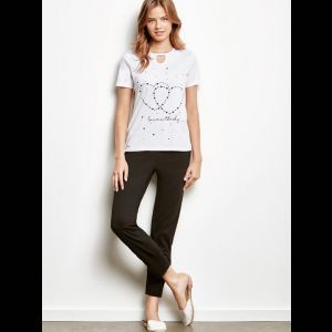 Уютная женская пижама с футболкой с сердечками