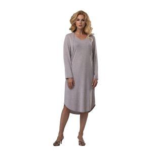 Стильное удлиненное платье с капюшоном
