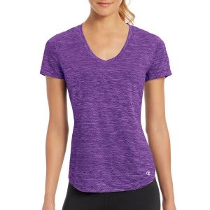 Меланжевая футболка с короткими рукавами