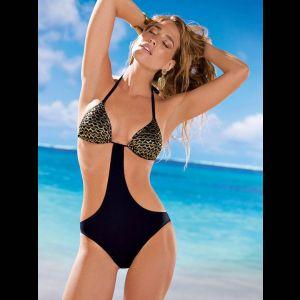 Слитный женский купальник-монокини на завязках