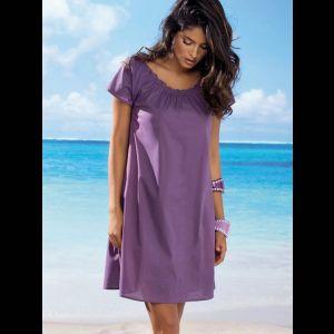 Короткое хлопковое платье с коротким рукавом