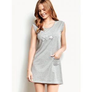 Оригинальная женская сорочка без рукавов с кармашком