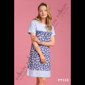Женская короткая сорочка с оборкой