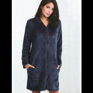 Уютный домашний халат на молнии с карманами