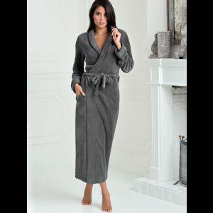 Длинный женский халат с поясом