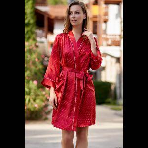 Короткий халат Dorothy с длинным рукавом