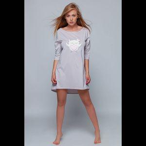 Коротенькая сорочка Megan с изображением совы