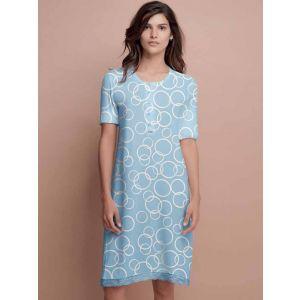 Женская сорочка на пуговицах с коротким рукавом