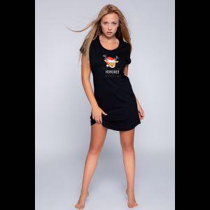 Короткая женская сорочка Lampo с забавным принтом