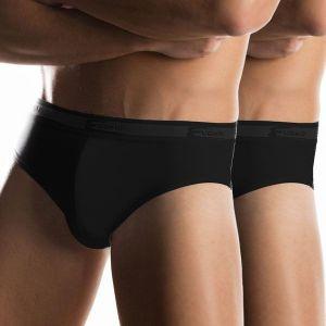 Комплект из 2 чёрных мужских трусов-слипов
