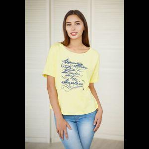 Женская футболка с буквенным принтом