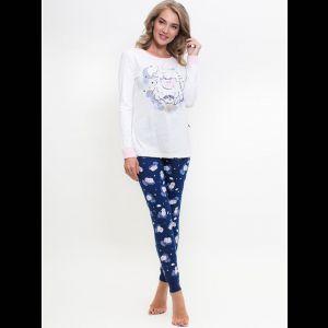 Женская пижама с принтованными лосинами