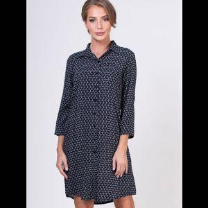 Короткое платье-рубашка на пуговках