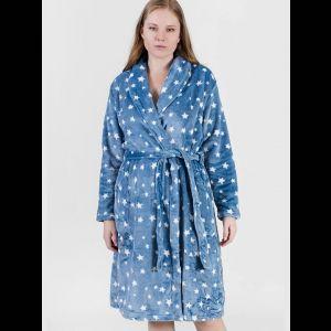 Уютный женский халат со звездочками