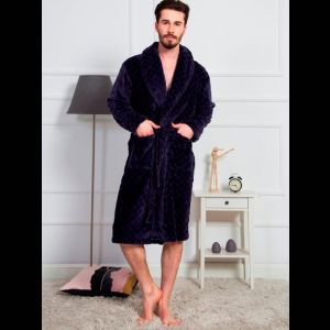 Длинный мужской халат из микрофибры