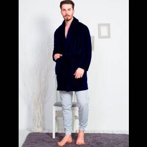 Уютный короткий мужской халат