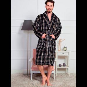 Длинный мужской халат с поясом