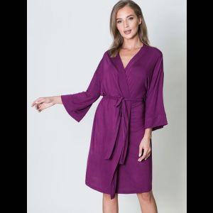 Элегантный женский халат с поясом