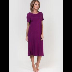 Воздушная женская сорочка с коротким рукавом