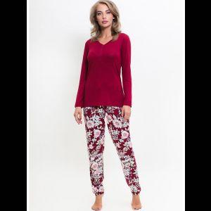 Домашний комплект с принтованными цветами брюками