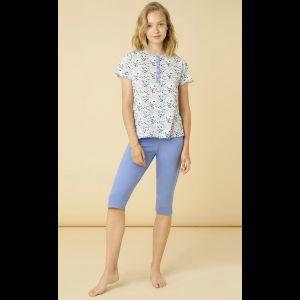 Женская трикотажная пижама из хлопкового полотна