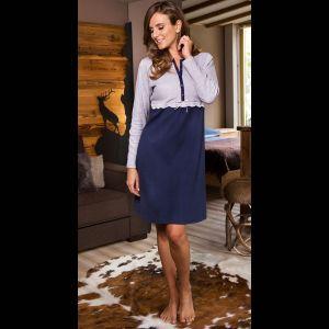 Платье-сорочка из хлопкового трикотажа