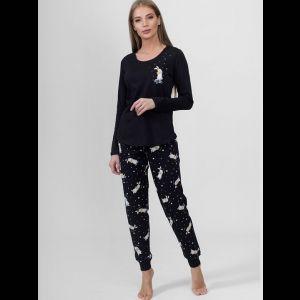 Женская трикотажная пижама с брюками