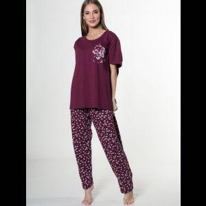 Свободный пижамный комплект с бабочками