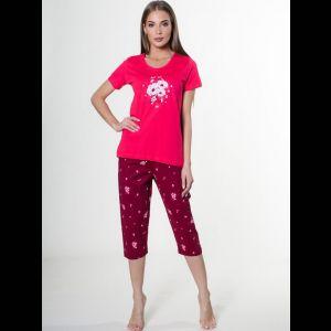 Хлопковый пижамный комплект с принтом