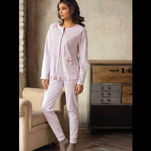 Женская пижама с кармашками на кофте