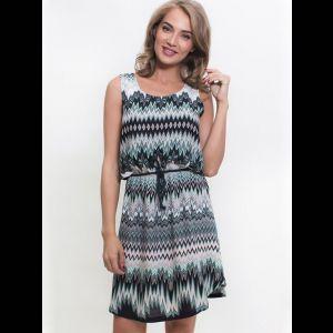 Платье из вискозы с зигзагообразным рисунком